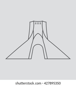 Tehran  Vector Illustration