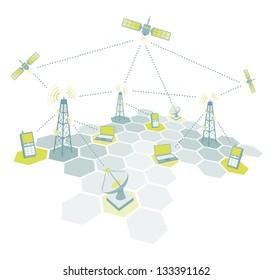 Telecommunications working diagram
