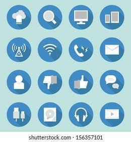 telecoms- media icons  design, vector