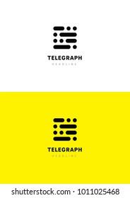 Telegraph logo template.