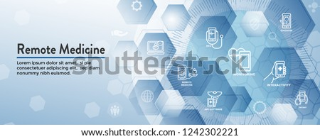 Telemedicine Abstract Idea Icons Illustrating Remote Stock Vector