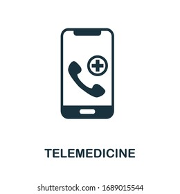 Telemedicine icon. Simple element from digital healthcare collection. Filled Telemedicine icon for templates, infographics and more.