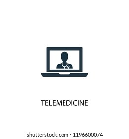 telemedicine icon. Simple element illustration. telemedicine concept symbol design. Can be used for web and mobile.