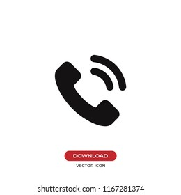 Telephone call vector icon