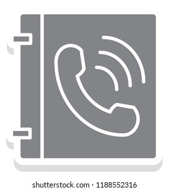 Telephone Directory Isolated Vector Icon