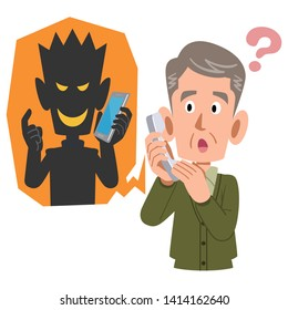 Telephone fraud and senior men likely to be deceived