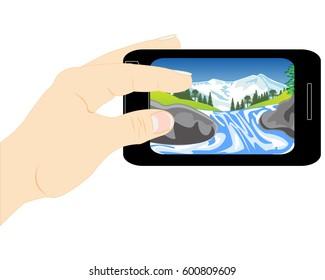 Telephone in hand