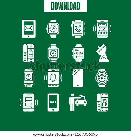 Telephone Icon 16 Telephone Vector Set Stock Vector (Royalty