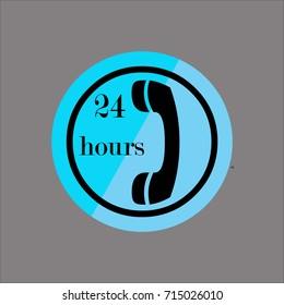 telephone icon flat design