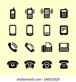 Telephone icon set for web