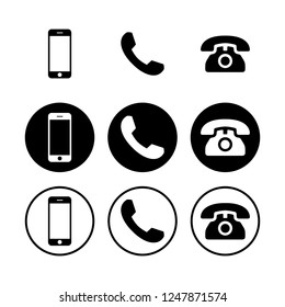 Telephone icons. Phone icon vector. Call icon vector. mobile phone smartphone device gadget.