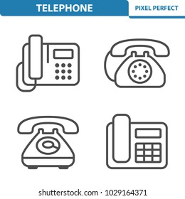 Telephone Icons. Professional, pixel perfect icons optimized for both large and small resolutions. EPS 8 format. 5x size for preview.