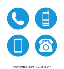 telephone icons set symbol vector