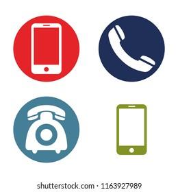 telephone icons , vector illustration