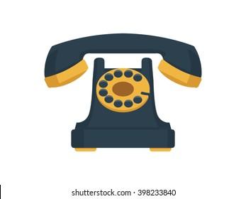 Telephone Illustration - Flat Icon