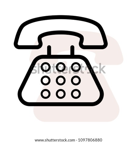 Telephone Landline Call Stock Vector (Royalty Free) 1097806880