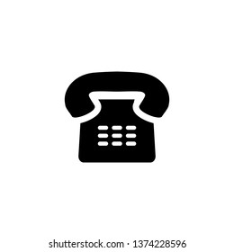 Telephone of old design vector icon