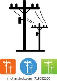 Telephone Poles Icon