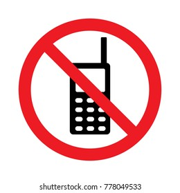 telephone prohibition sign