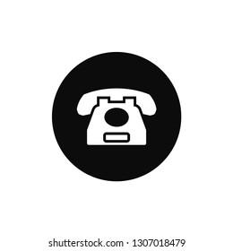 Telephone rounded icon