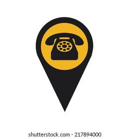 telephone signal design , vector illustration