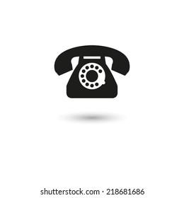 telephone  - vector icon