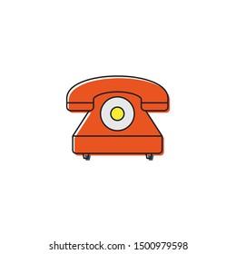 Telephone vector icon symbol isolated on white background