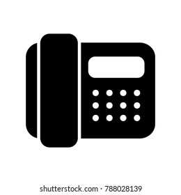 telephone vector line icon, logo , symbol , mobile app , sign, illustration on background