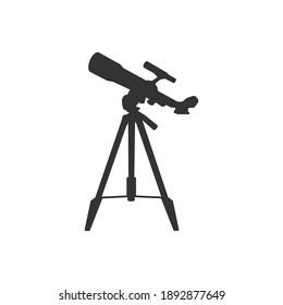 Telescope icon design isolated on white background