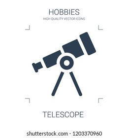 telescope icon. high quality filled telescope icon on white background. from hobbies collection flat trendy vector telescope symbol. use for web and mobile