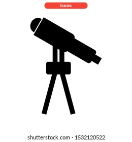 telescope icon isolated sign symbol vector illustration - high quality black style vector icons