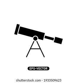 Telescope icon vector illustration logo template for many purpose. Isolated on white background.