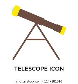 Telescope icon vector isolated on white background for your web and mobile app design, Telescope logo concept