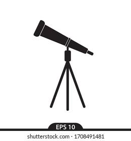 telescope icon vector simple design