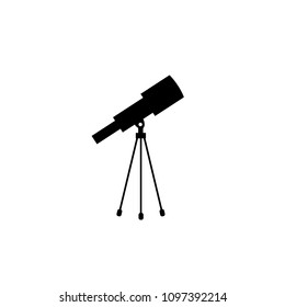 Telescope icon vector, solid illustration, pictogram isolated