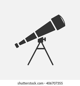 Telescope icon vector, solid illustration, pictogram isolated on white