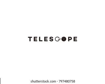 Telescope logo identity