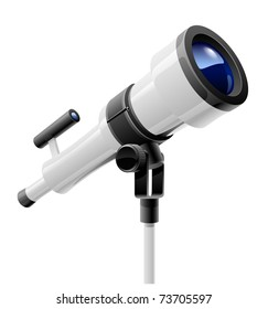 telescope on support vector illustration isolated on white background