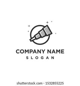 telescope stars logo design vector
