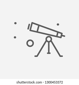 Telescope tube icon line symbol. Isolated vector illustration of  icon sign concept for your web site mobile app logo UI design.