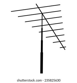 Television antenna isolated on a white background