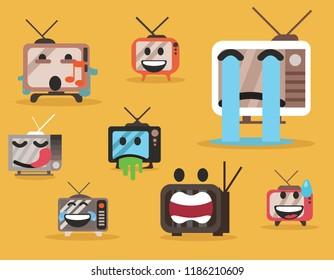 Television character emoji set