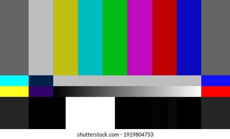 Television Color Bars test pattern for quality check the video signal passing. Aspect ratio 16:9 in vector