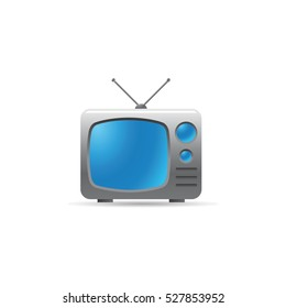 Television icon in color. Electronic communication news update