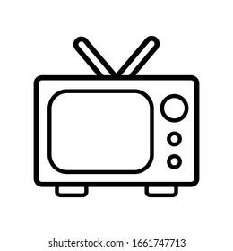 television icon design vector template