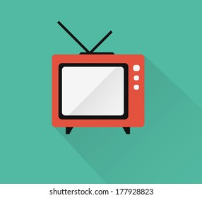 Television icon ( long shadow )