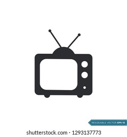 Television Icon Vector Template