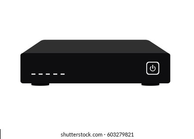 Television set top box vector. Satellite receiver.
