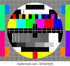 Tvs-test kort eller mønster. Test diagrammer for tv-opløsning