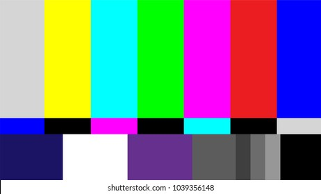 Television test pattern of stripes,Full HD